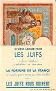 PROPAGANDE TRACT LES JUIFS NOUS RUINENT BANQUE DE JUDEE PARODIE BILLET FRANCAIS - 1939-45