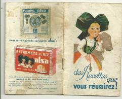 Theme  Recettes Carnet Alsa Levure Alsacienne - Recettes (cuisine)