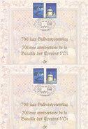 700 Jaar Guldensporenslag - Bataille Des Eperons D'Or - Souvenir Cards
