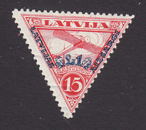 Latvia, Scott #CB4, Mint Hinged, Plane Surcharged, Issued 1931 - Lettonie