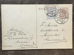 B7 Niederlande Netherlands Pays-Bas Ganzsache Stationery Entier Postal Mi. P 159 Von Enschede Nach München - Postwaardestukken