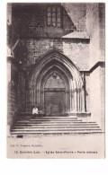 46 Gourdon Eglise Saint Pierre Porte Laterale , Petit Animation , Carte Non Voyagée - Gourdon
