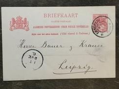 B7 Niederlande Netherlands Pays-Bas Ganzsache Stationery Entier Postal Mi. P 28a Von Enschede Nach Leipzig - Postwaardestukken