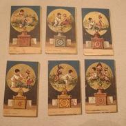 Rare Série De 6 Chromos Chocolat Guerin Boutron Sur Le Thème Lanterne Magique - Guerin Boutron