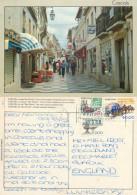 Rua Direita, Cascais, Portugal Postcard Posted 1986 Stamp - Lisboa
