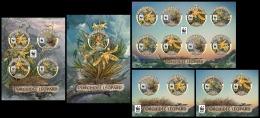 TOGO 2016 - WWF Leopard Orchid. Complete IMPERF. Set - Unused Stamps