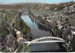 12 - PORT D'AGRES : Le Nouveau Pont Sur Le Lot - CPSM Dentelée Colorisée GF Postée 1965 - Aveyron - France