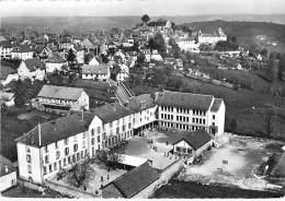 12 - MUR DE BARREZ : Cours Complémentaire ( Ecole ) - CPSM Dentelée Noir Blanc GF - Aveyron - France