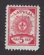 Latvia, Scott #18, Mint Hinged, Arms, Issued 1919 - Letland