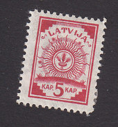 Latvia, Scott #18, Mint Hinged, Arms, Issued 1919 - Lettonie