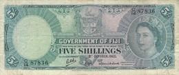 FIJI 5 SHILLINGS 01.10.1965 P-51e VF S/N C/14 87836 [FJ328e] - Fiji