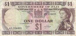 FIJI 1 DOLLAR ND (1969) P-59 VF S/N A/1 334491 [FJ336a] - Fiji