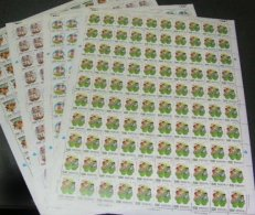 Taiwan 1992 Toy Stamps Sheets Chopstick Gun Iron-ring Grass Fighting Ironpot Dragonfly Goose Ox Kid Sparrow