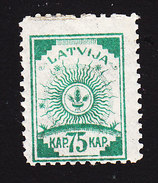 Latvia, Scott #24, Mint Hinged, Arms, Issued 1919 - Lettonie