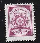 Latvia, Scott #17, Mint Hinged, Arms, Issued 1919 - Latvia