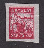 Latvia, Scott #49, Mint Hinged, Liberation Of Riga, Issued 1919 - Latvia