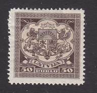 Latvia, Scott #111, Mint Hinged, Coat Of Arms, Issued 1921 - Lettonie