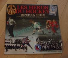 Calendrier - 2000, Les Heros Du Hockey, 29 X 30.5 Cm, Rdition Speciale De 16 Mois 2 Scans - Calendriers