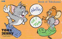 Télécarte Japon - BD COMICS - TOM & JERRY - BANQUE YOKOHAMA BANK - CHAT & SOURIS - CAT & MOUSE Japan Phonecard  - 48 - BD