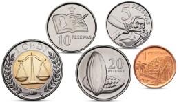 GHANA CURRENCY 5 COINS SET BIMETAL BI-METALLIC 2007 2012 UNC - Ghana