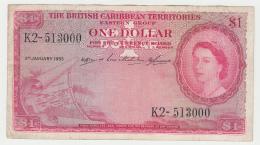 British Caribbean Territories 1 Dollar 1955 VF Pick 7b 7 B - Caraïbes Orientales