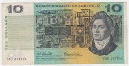 Australia 10 Dollars 1966 VF+ P 40a 40 A (Coombs Wilson) - Emissioni Governative Decimali 1966-...