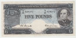 Australia 5 Pounds 1954 VF+ Pick 31 - Decimal Government Issues 1966-...