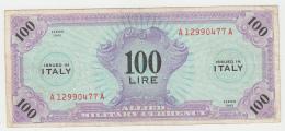 Italy 100 Lire 1943 VF+ CRISP Banknote Pick M15 AMC - [ 3] Militaire Uitgaven