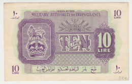 Libya Tripolitania 10 Lira 1943 WWII AXF P M4 - Libye