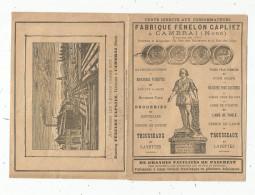Publicité , Fabrique FENELON CAPLIEZ , CAMBRAI , Nord , Initiales Brodées , 6 Pages , 3 Scans - Publicités