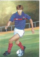 YANNICK STOPYRA  .. INTERNATIONAL FRANCAIS 1986 .. VU PAR LE PEINTRE CAZAUX - Fussball