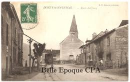 71 - DONZY-le-NATIONAL - Route De Cluny ++++ B. F., Chalon-sur-Saône +++++ 1909 +++++ RARE - France