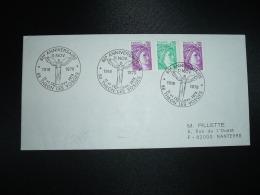 LETTRE TP SABINE DE GANDON 0,50 X2 + 0,20 OBL.11 Et 12 Nov. 1978 88 THAON LES VOSGES 60e ANNIVERSAIRE 11 NOV - Guerre Mondiale (Première)
