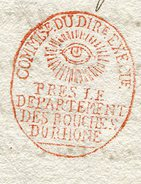 AIX Ampliation D'une LAC De PARIS Du 02/04/1798 Pour ARLES Avec Cachet Rouge Du Directoire Exécutif - Postmark Collection (Covers)