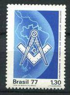 103 BRESIL 1977 - Masonic Franc Maconnerie Freemasonry Symbole Brasil - Neuf ** (MNH) Sans Charniere - Franc-Maçonnerie