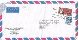 Denmark Airmail 1987 Rasmus Rask (1787-1832), Linguist 2.80k Postal History Cover Sent To Pakistan. - Danimarca