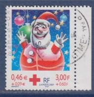= Au Profit De La Croix Rouge, Fêtes De Fin D'année, Boules - Père Noël  3436a Oblitéré Avec Bord Du Carnet - Gebraucht