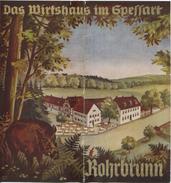 Rohrbrunn 30er Jahre - Das Wirtshaus Im Spessart - Faltblatt Mit 7 Abbildungen - Tourism Brochures