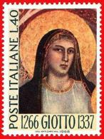 Italia. Italy. 1966 (**) Mi 1217. Giotto Di Bondone. Pintura Painting Pintores Italianos Italian Painters - Madonnas