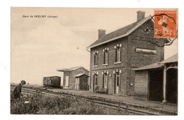 Cpa # Gare De Douchy - Autres Communes