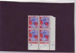 N° 1234 - 0,25F MARIANNE A LA NEF - E De E+F - Tirage Du 8.12.59 Au 18.3.60 - 29.1.1960 - - 1960-1969