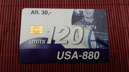 Phonecard Aruba Only 50.000 Made Used 2 Scans Rare - Aruba