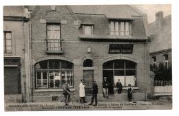 Cpa # Origny-ste-benoite#maison Cavenne-tiéfaine,café Des Sports-salon De Coiffure,parfumerie - Francia