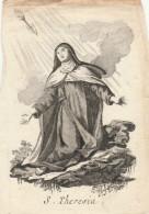 SANTINO HOLY CARD LA DIVINA PASTORIA - FINE XVII SECOLO (RIF. BENEDETTO XIV) PICCOLA MACCHIA SUL RETRO  (9N - Santini