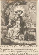 SANTINO HOLY CARD S.THERESIA -XVII SECOLO ? -PERGAMENA -PICCOLA USURE SUI BORDI  (10N - Santini