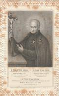 SANTINO HOLY CARD B.PAOLO DELLA CROCE - 1852 -TRINATO A PUNZONE - NON PERFETTO (MACCHIE) (23N - Santini