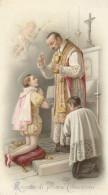 SANTINO HOLY CARD RICORDO DI PRIMA COMUNIONE - 1892 (92K - Santini