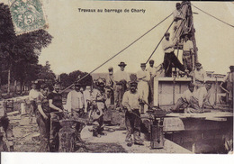 02 - CHARLY-SUR-MARNE - TRAVAUX AU BARRAGE - BELLE ANIMATION - SCAPHANDRIER - - Francia