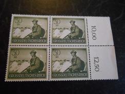 Deutsches Reich 1944  Ungebraucht/* Mit Rand 4er Block - Unused Stamps