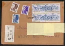Lettre Recommandée De Paris 16/7/84  , 1er éch.. Taux 4, Pour Bon Encontre   -  SUP - Covers & Documents